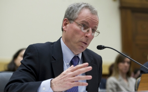 U.S. Ambassador to Syria Robert Ford, then the U.S. Ambassador to Syria, testifying at a House Foreign Affairs committee hearing on the crisis in Syria in March 2013.