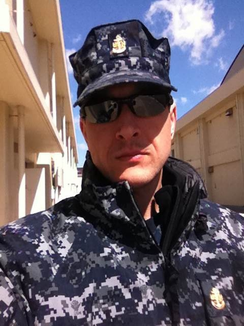 Mike Sebourn pictured while on assignment with the U.S. Navy in April 2011 at Misawa Air Base in Japan.