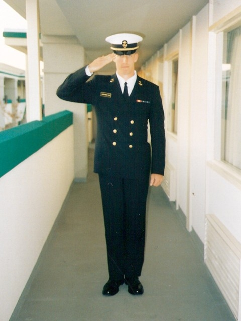 Jake Harriman at his graduation from the U.S. Naval Academy.