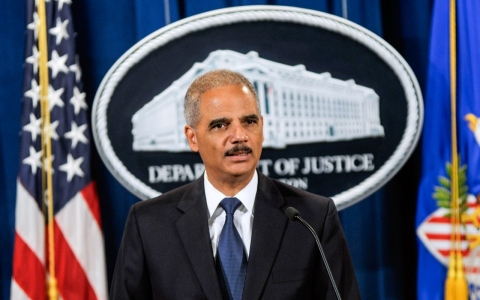 U.S. Attorney General Eric Holder speaks during a press conference on Sept. 30, 2013 in Washington, D.C.