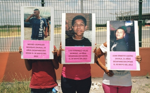 families of disappeared at marine base