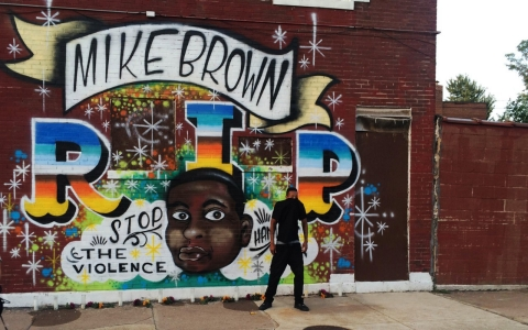 Mike Brown mural