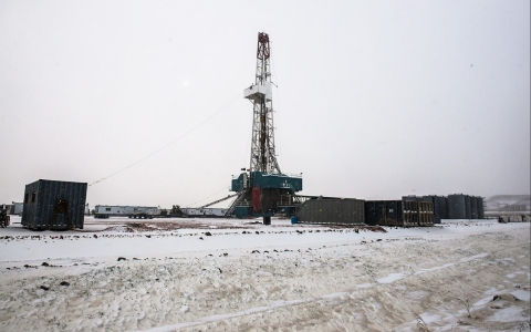 North Dakota oil well