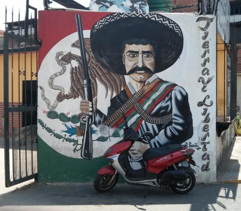 The art of the bolivarian revolution in venezuela al for Emiliano zapata mural
