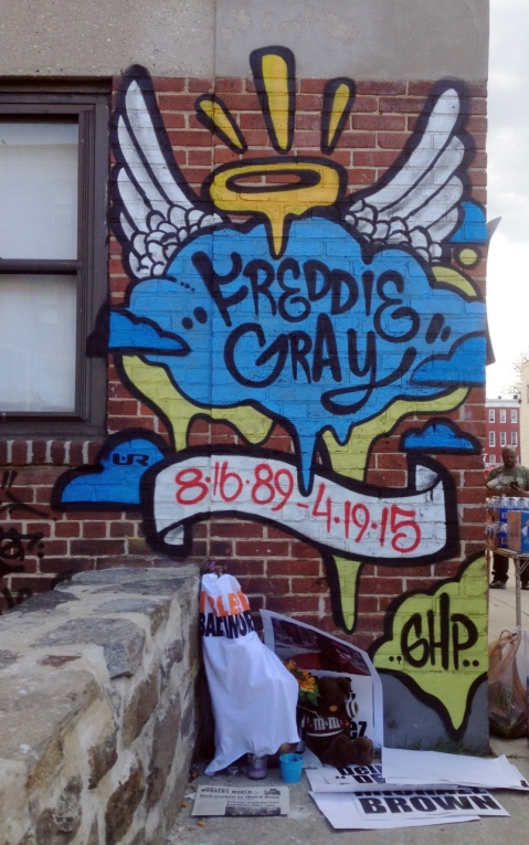 Freddie Gray shrine