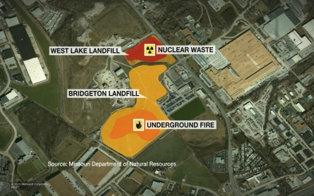 St. Louis landfill fire threatens nuclear waste area