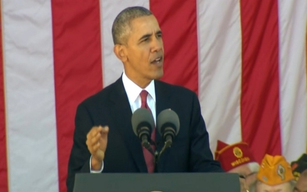 President Obama addresses veterans at Arlington National Cemetery