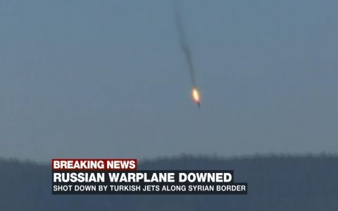 Thumbnail image for Turkey downs Russian warplane near border with Syria