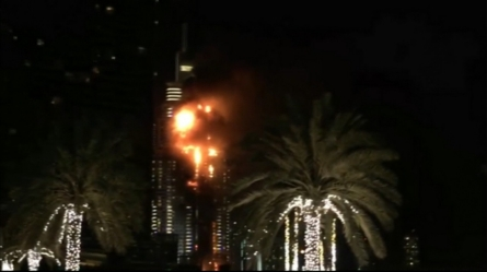 Massive fire engulfs Dubai hotel near world's tallest building