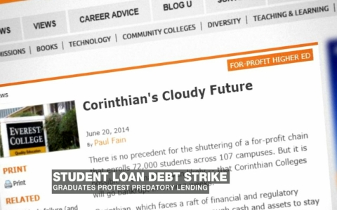 Thumbnail image for First student debt strikers visit Washington