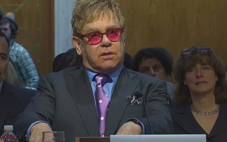Elton John challenges Congress to do more in stopping AIDS