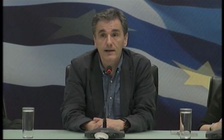 Greece's new finance minister addresses the nation