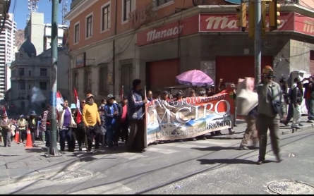 Bolivian miners protest and demand progress