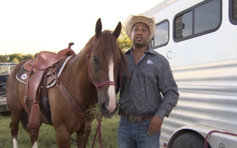 Thumbnail image for African-American rodeo competitor discusses his cowboy heritage
