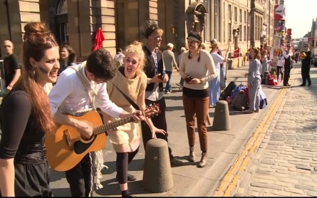 Performers showcase their talents at the Fringe Festival in Scotland