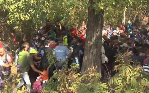 Thumbnail image for Chaos in Croatia as refugees break police line at border
