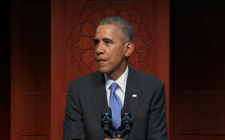 Obama visits mosque in Baltimore