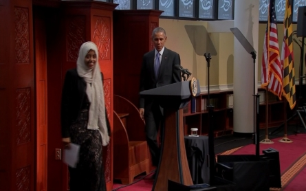 President Obama visits mosque in Maryland