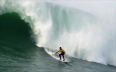 Surfers head to California to ride three-story high waves