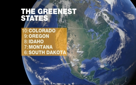 The greenest states in the US