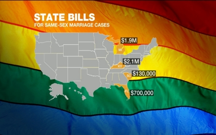 The cost of fighting same-sex marriage bans on the state level
