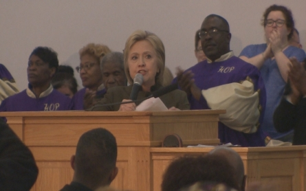 Hillary Clinton pledges support for the city of Flint