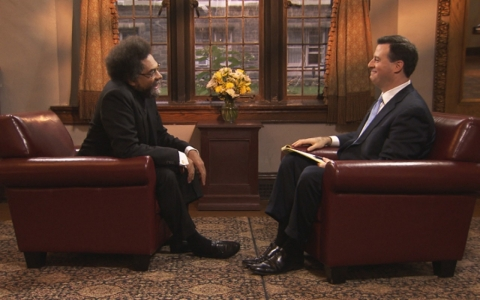 Cornel West and David Shuster