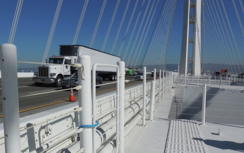 The new San Francisco-Oakland Bay Bridge.