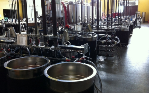 Mondavi Institute's fermentation containers.
