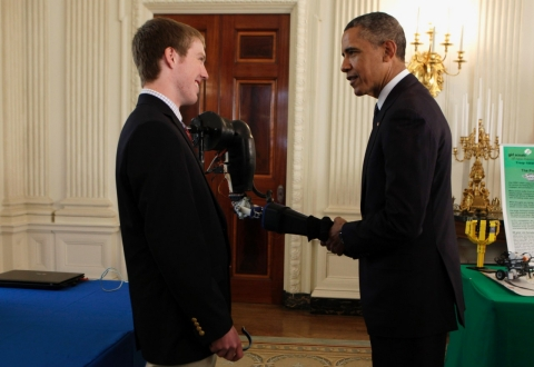 Easton LaChappelle and President Barack Obama.