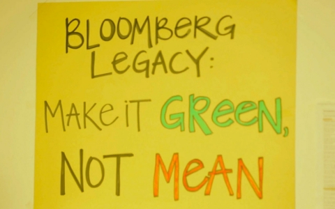 Bloomberg legacy sign in NYC.