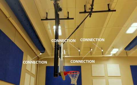 Wall connections in the new Oakdale Elementary gym aim to prevent tornadoes from blowing the roof off.
