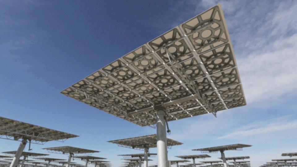 behind the scenes: solarreserve's massive mirrors harness the sun's power
