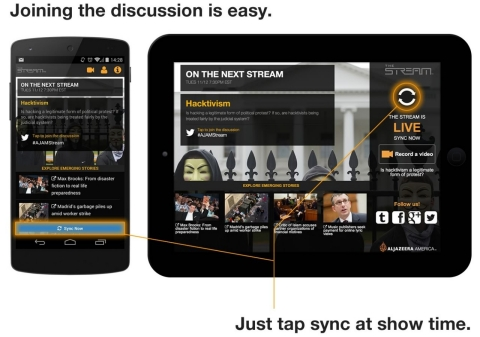 Hit Sync to join the live experience.