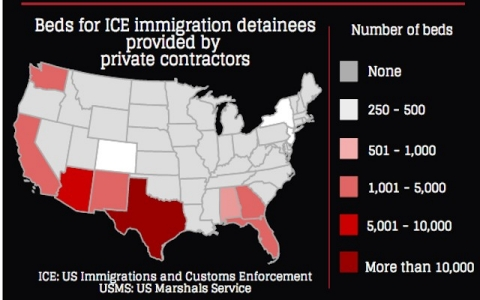 Thumbnail image for Infographic: Immigration and private prison companies