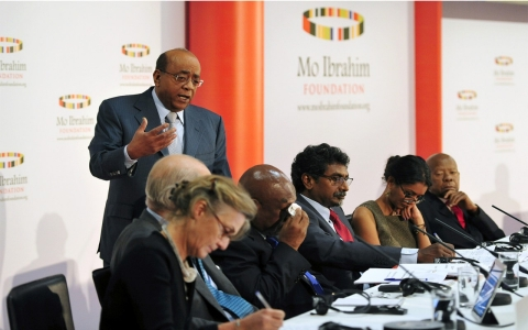Mo Ibrahim, founder of the Mo Ibrahim Foundation, speaks at the launch of the 2013 Ibrahim Index Carl Court/AFP/Getty Images