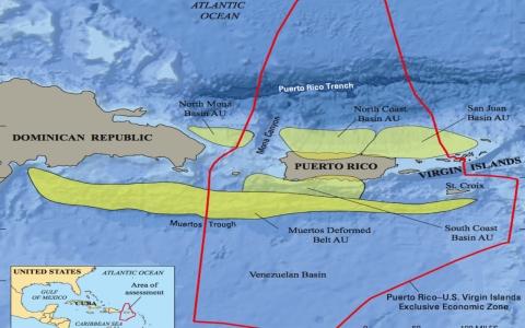 Map Of The Puerto Rico U S Virgin Islands Exclusive Economic Zone Credit Usgs