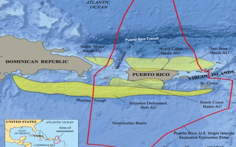 Oil And Natural Gas Reported Near Puerto Rico Al Jazeera America - Map-of-us-virgin-islands-and-puerto-rico