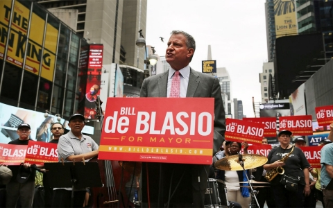Bill de Blasio responds to the court ruling that stop-and-frisk is unconstitutional. Spencer Platt/Getty Images