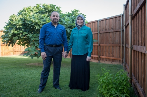 Ahmad Muhanna and his wife Reem Muhanna are plaintiffs in a legal case that the ACLU has against US Immigration (Mei-Chun Jau, ACLU of Southern California)
