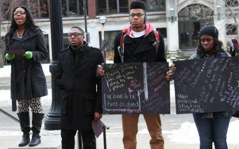 Thumbnail image for Black students at Univ. of Michigan demand action on campus diversity