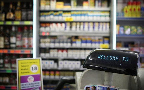 Cash register at store