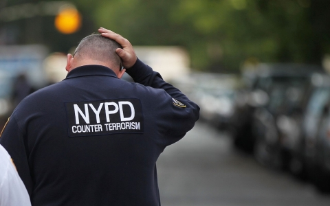 A member of the New York City Police Department counterterrorism unit