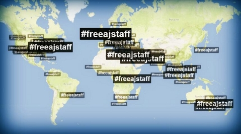 Thumbnail image for Global campaign to #FreeAJStaff extends around the world