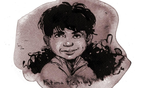 Portrait of Fatima Meghlaj, age 2, who was killed in Syria on Sept 16, 2012.