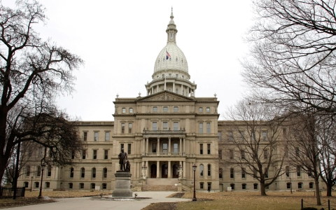 Michigan state capital building.
