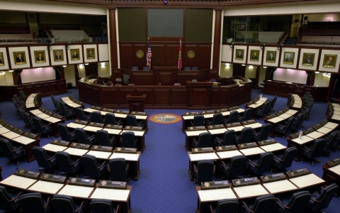 The Florida House of Representatives chamber.