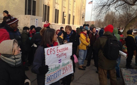 Residents rally against standardized testing in Chicago public schools